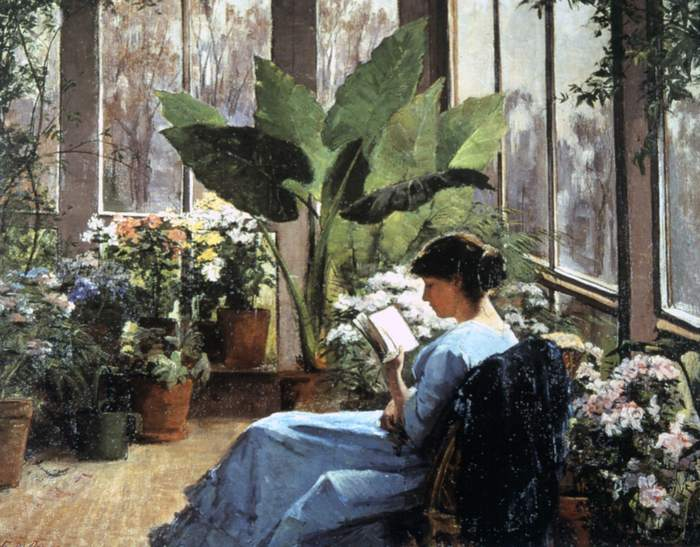 Frances Jones Bannerman, The conservatory, 1883
