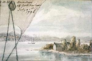 Elizabeth Simcoe, York Harbour, Upper Canada, 1796.