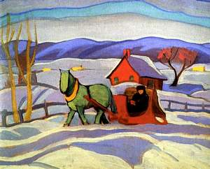 Sarah Robertson, The Red Sleigh, 1924